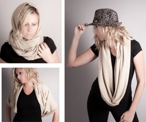 How to wear an infinity scarf