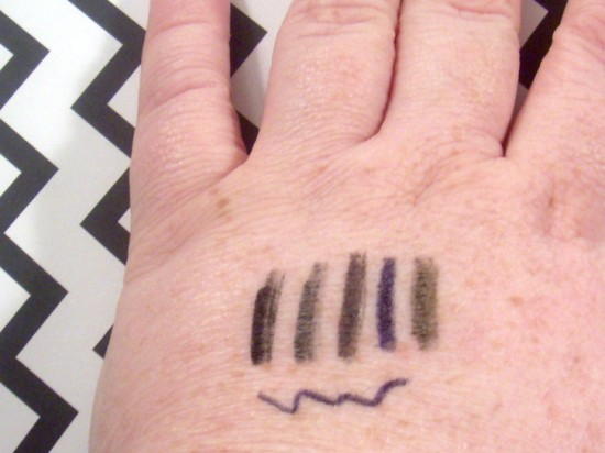 Covet Eyeliners Swatch