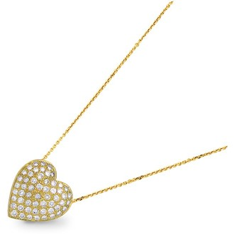 Leo Inger Yellow Gold Pave Heart