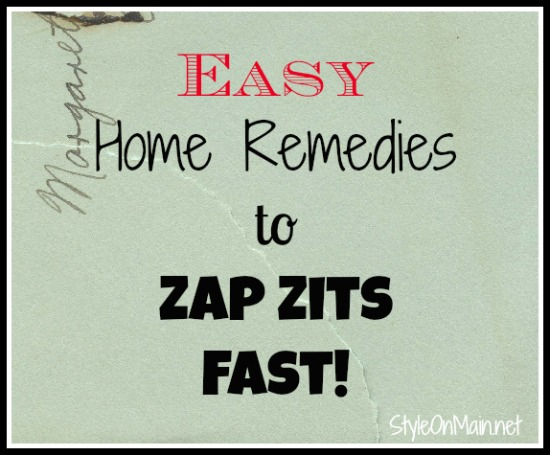 Easy home remedies to zap zits fast