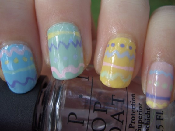 Decorated Easter Egg Nail Art