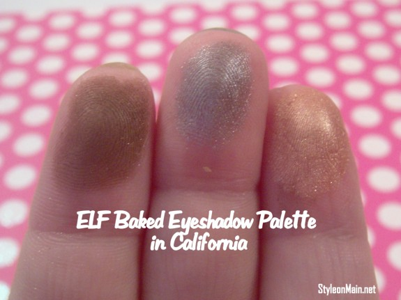 ELF baked Eyeshadows in California swatch
