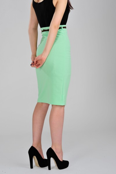 Mint Green Pencil Skirt