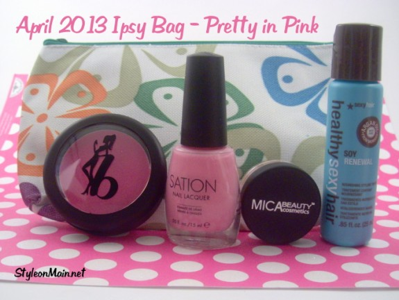April 2013 Ipsy Bag Pretty in Pink