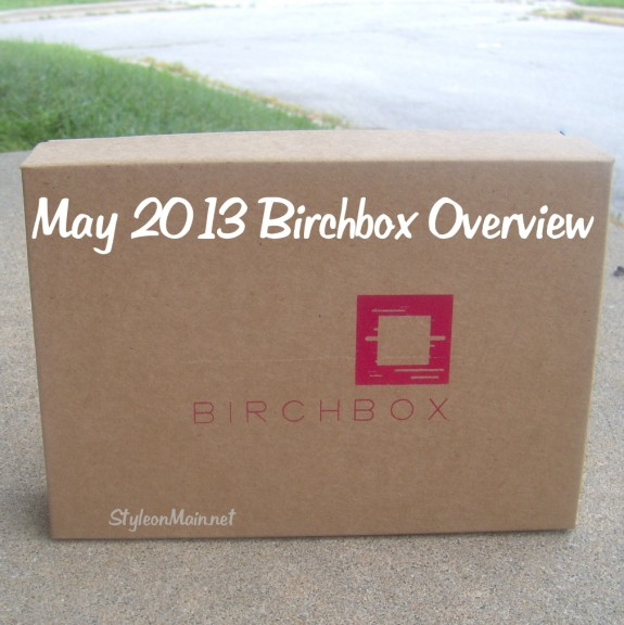 May 2013 Birchbox Overview
