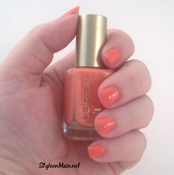 Nails of the Day – Orange You Jealous by L'Oreal