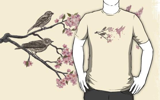 Redbubble Blossom Bird Tee