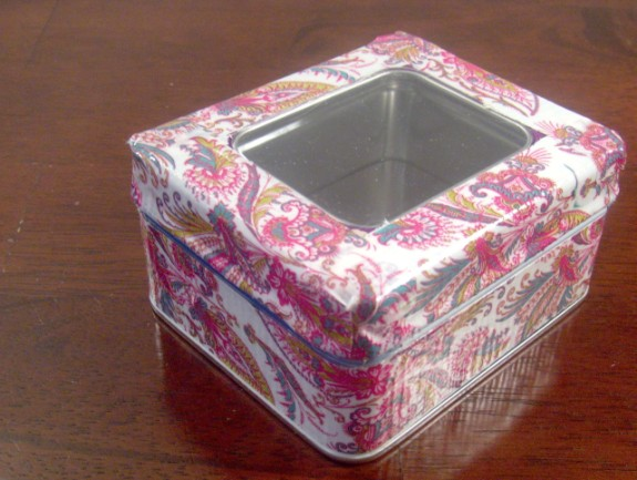 Finished DIY Upcycled  Duct Tape Box