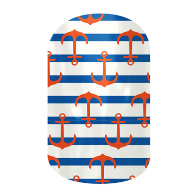 Nautical Anchor Jamberry Nails decal
