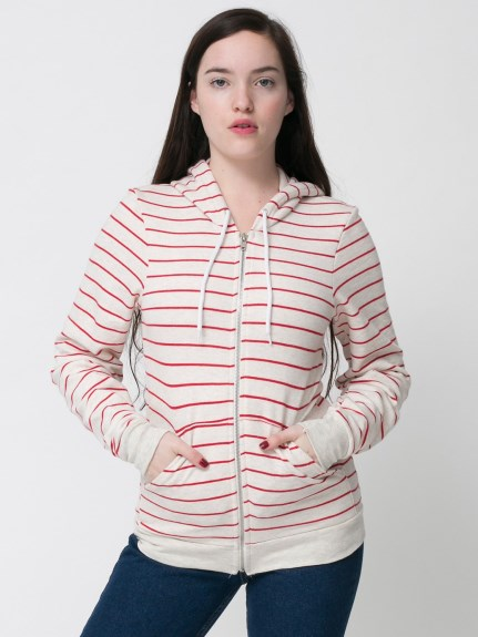 American Apparel Striped hoodie