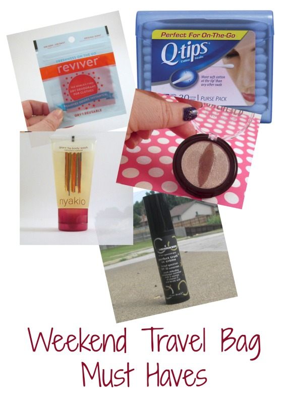 weekend-travel-bag-must haves