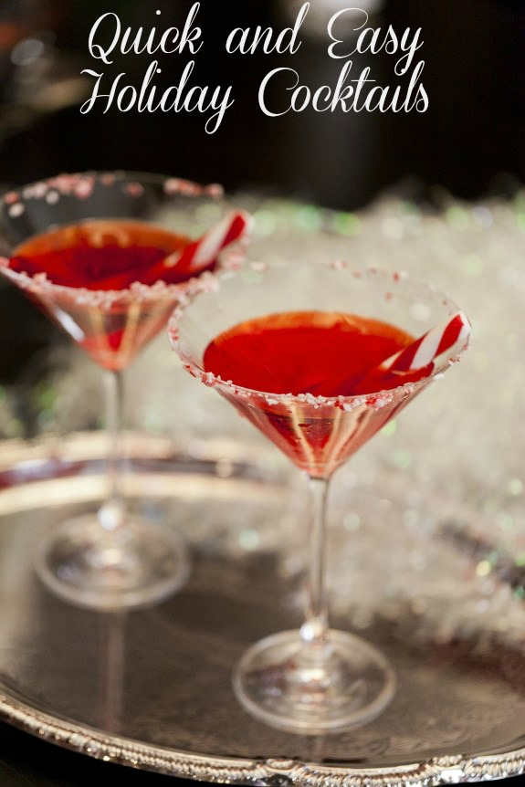 Quick and easy holiday cocktails for festive entertaining Simple holiday cocktails