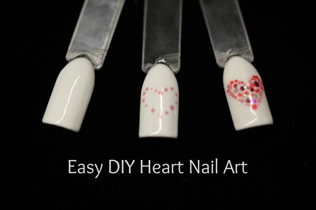 Easy DIY Heart Nail Art