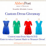 Win a Custom Made Dress from AbbeyPost