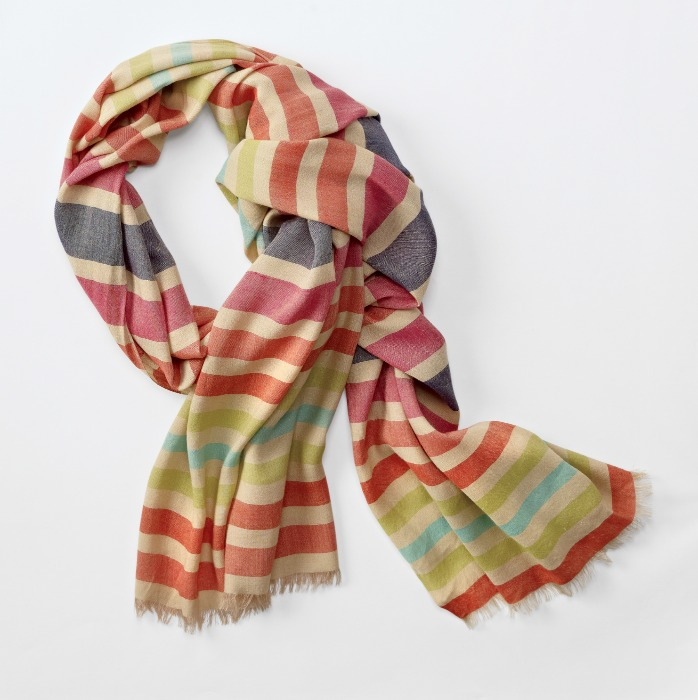 Chadwicks Summer Striped Scarf