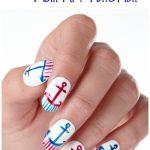 Easy Nautical Anchor Nail Art Tutorial