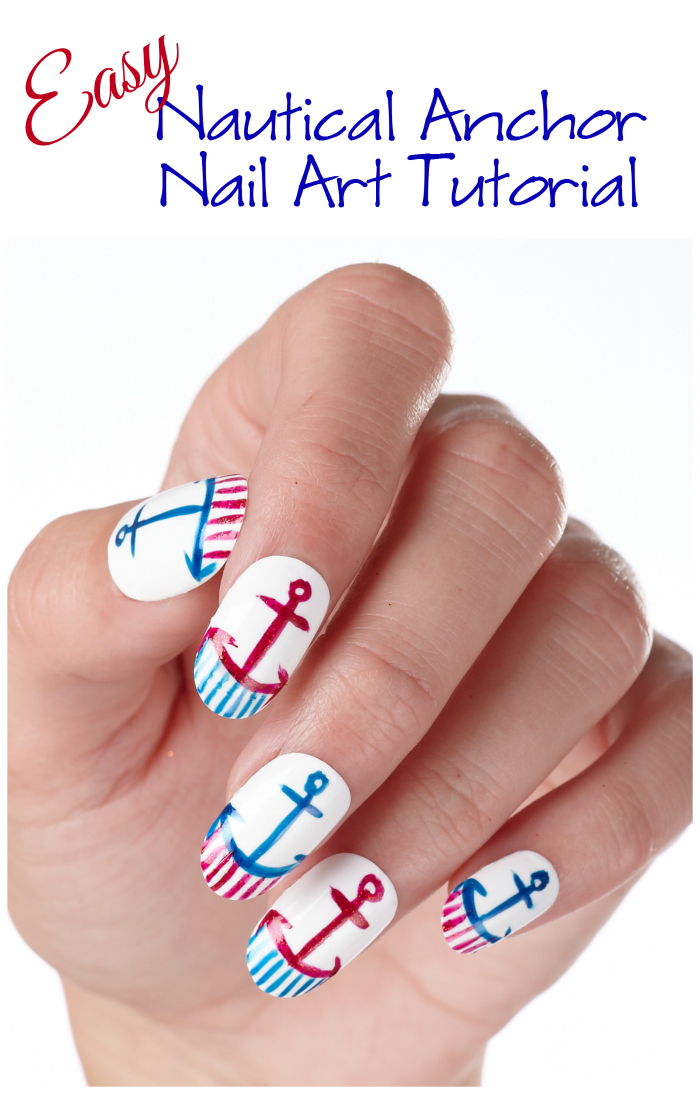 Easy Nautical Anchor Nail Art Tutorial - Style on Main