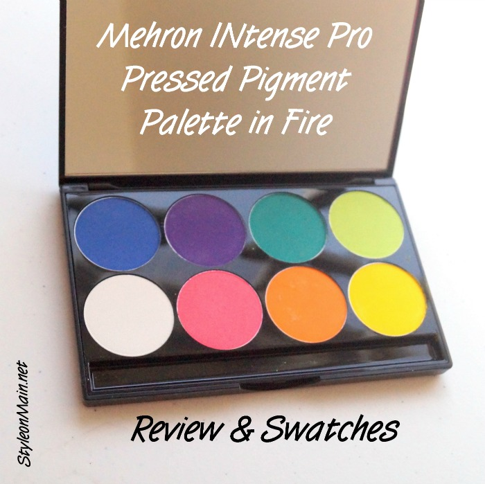 Mehron INtense Pro Palette Fire Review & Swatches