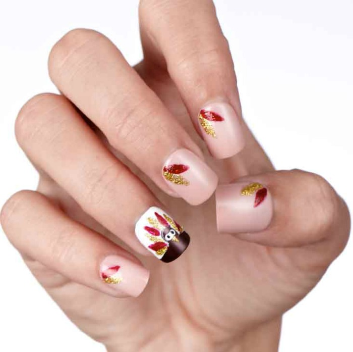 Easy Diy Turkey And Feathers Nail Art Tutorial Style On Main