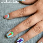 Bunny with Tail Easter Nail Art Tutorial
