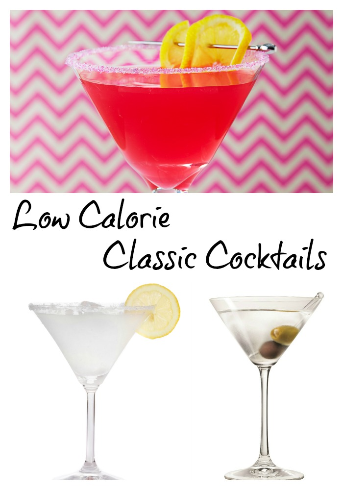 Low Calorie Classic Cocktails with a Modern Twist