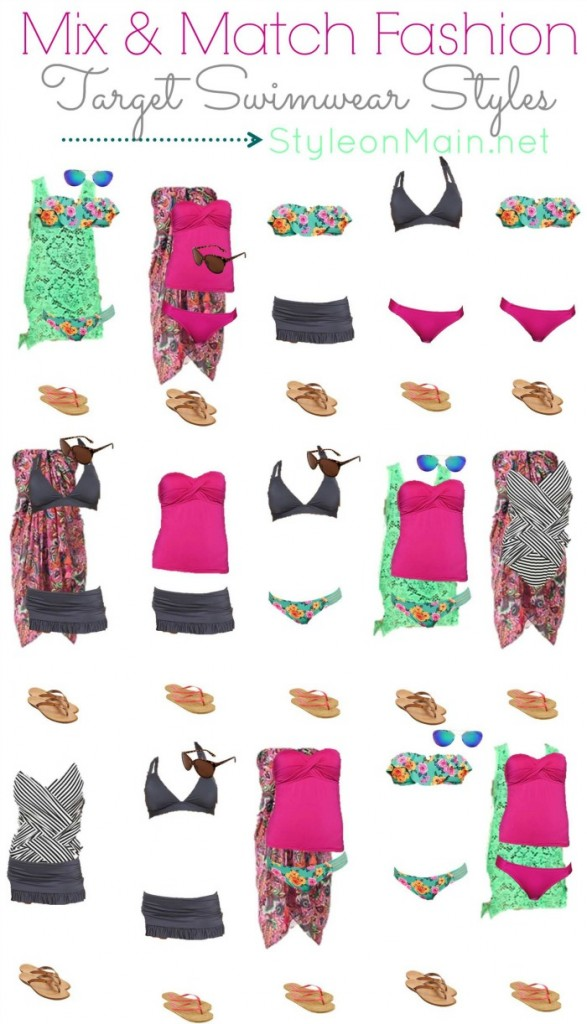 Target Mix and Match Swimwear Fashion Board VERTICAL STYLEONMAIN