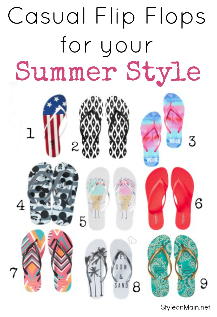 Casual flip flops for your summer style