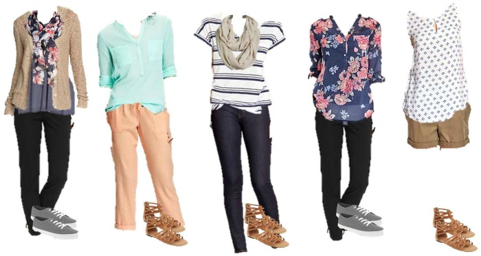 Old Navy Mix Match Wardrobe 11-15