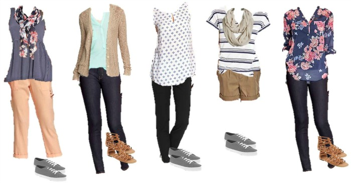 Old Navy Mix Match Wardrobe 6-10