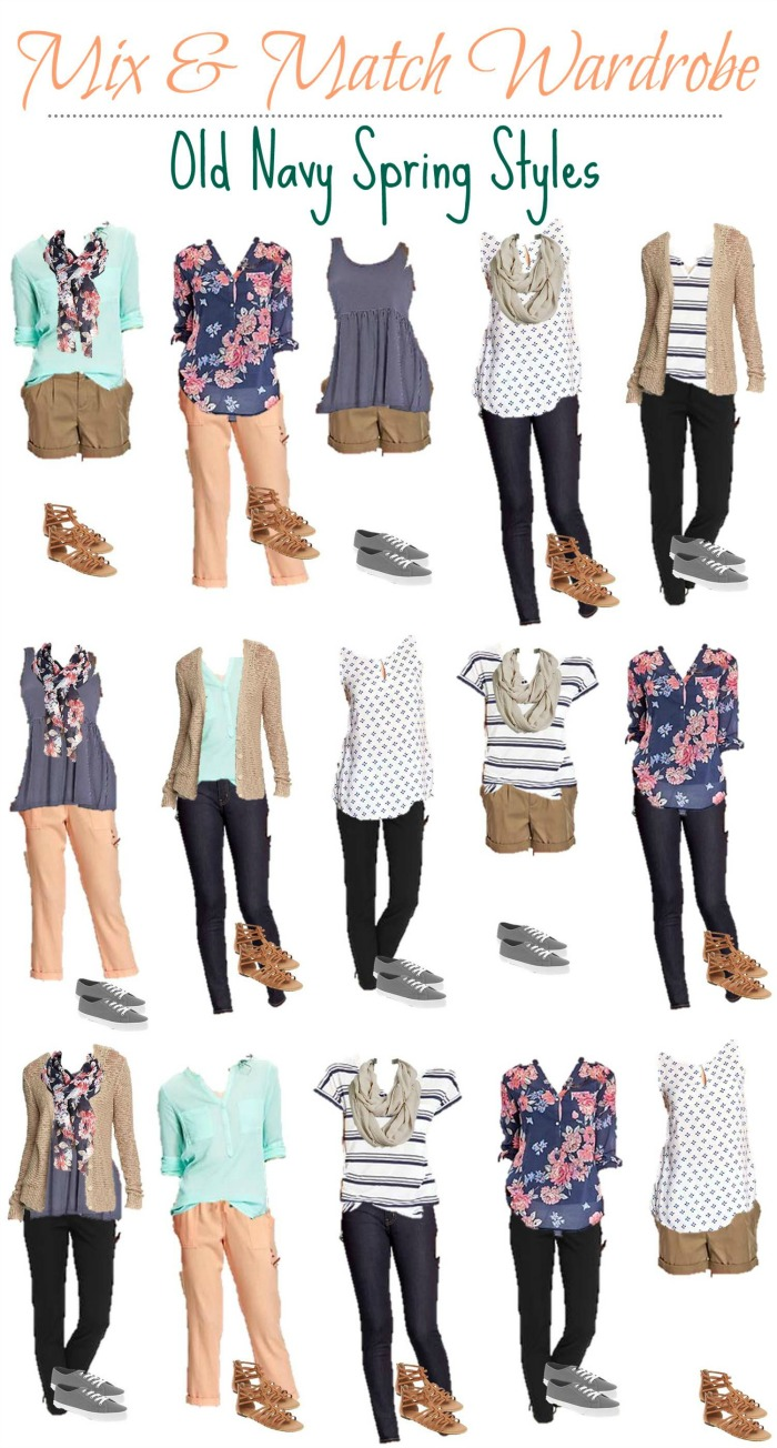 Old Navy Mix and Match Wardrobe For the Office