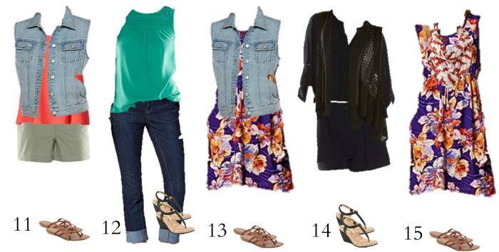 Kohls Mix and Match Summer Wardrobe 11-15