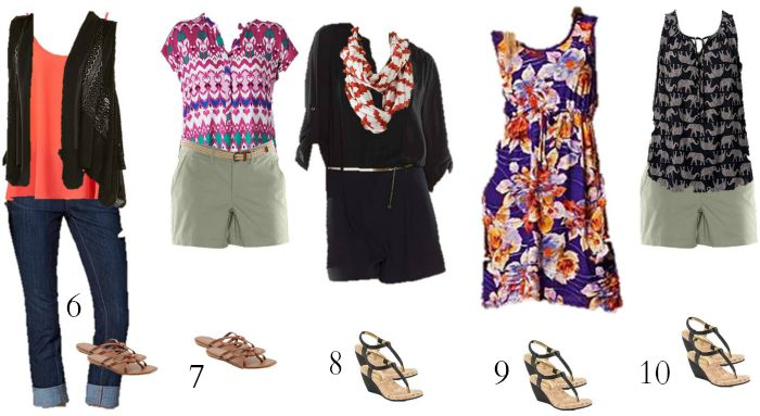 Kohls Mix and Match Summer Wardrobe 6-10