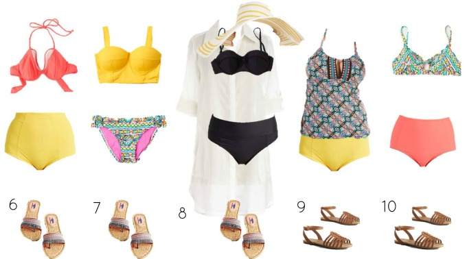 Modcloth Mix and Match Swimwear 6-10