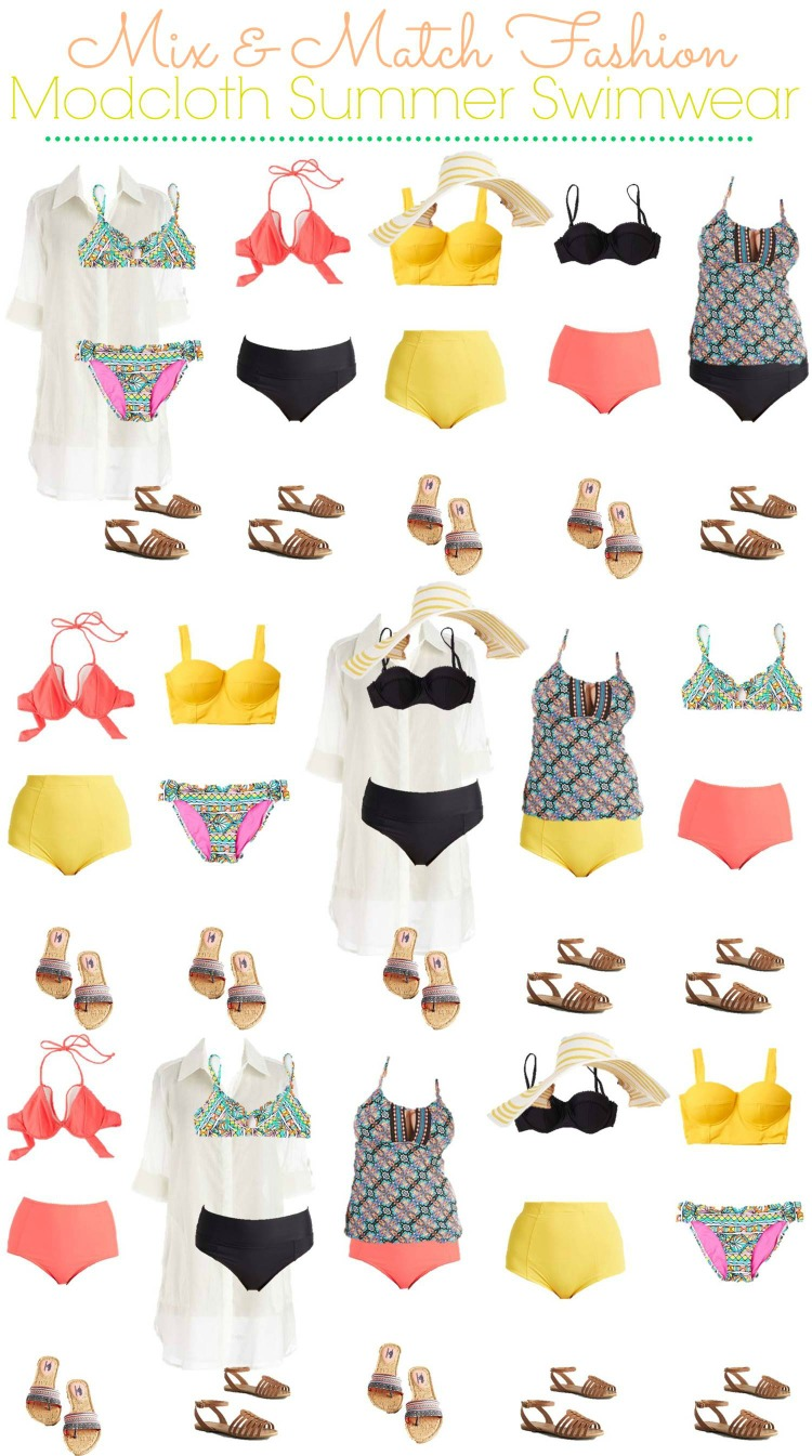 Modcloth Mix and Match Swimsuits