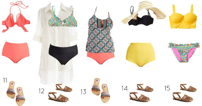 Modcloth mix and match Swimwear 11-15
