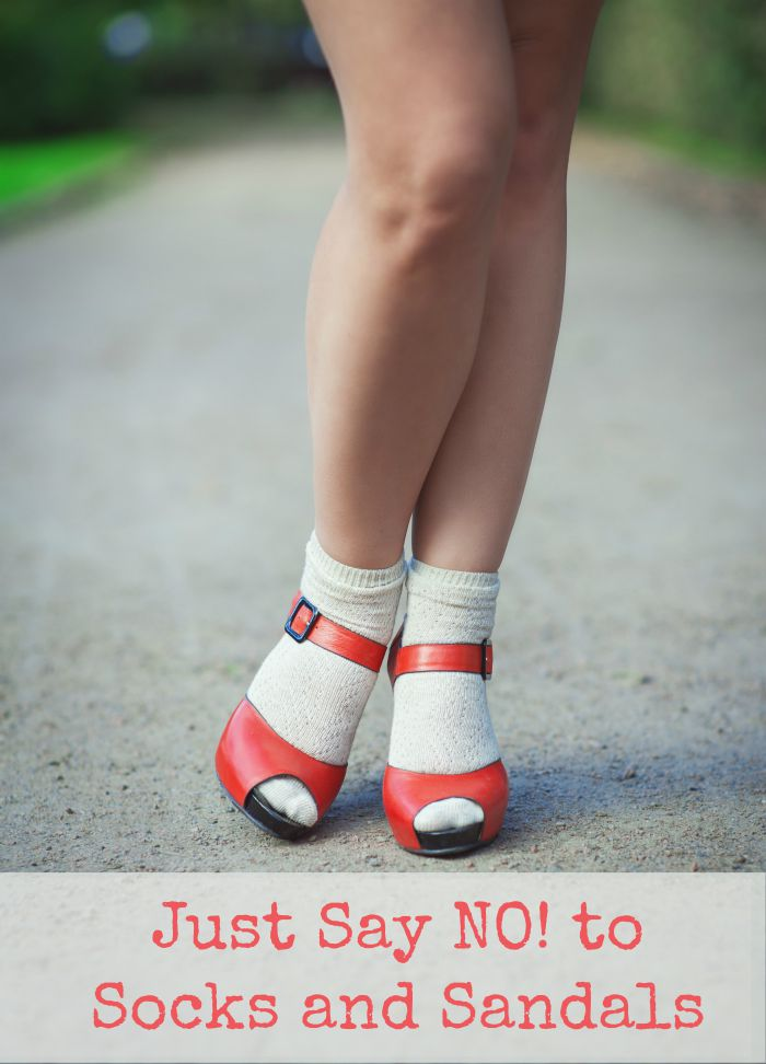 Just Say No to Socks with Sandals