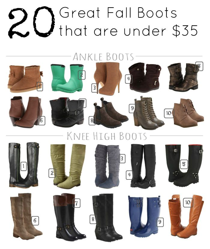 20 great fall boots under 35