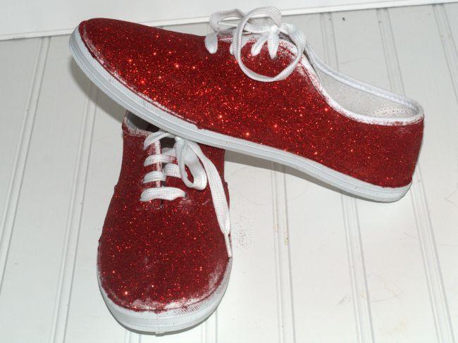 DIY glitter sneakers 2