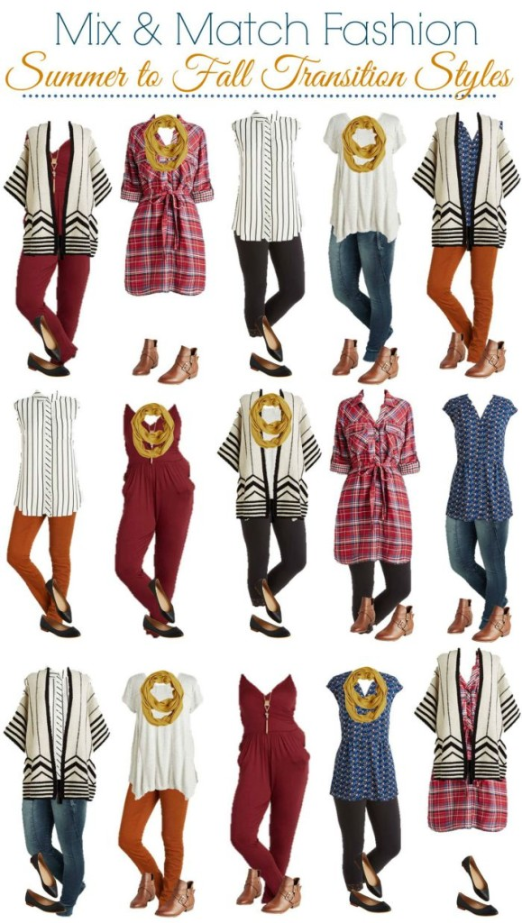 Modcloth Mix and Match Wardrobe for Summer to Fall