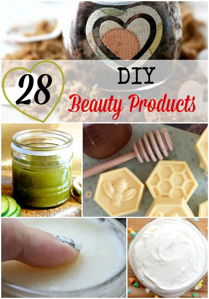 28 DIY beauty products