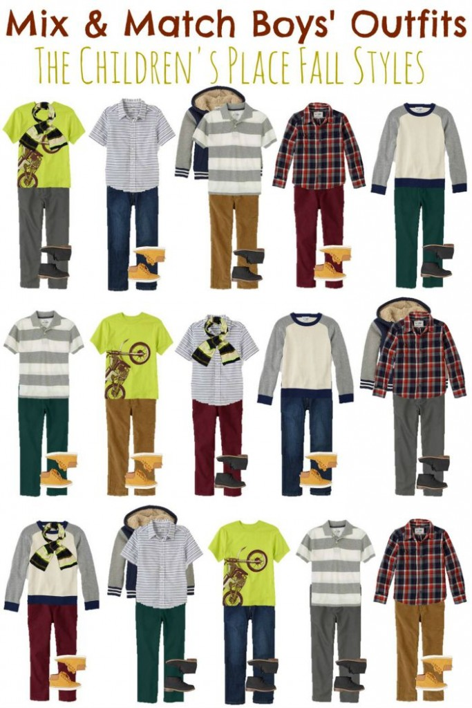 Boys Mix & Match wardrobe for fall
