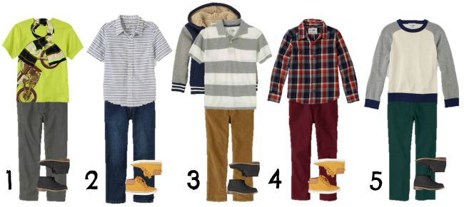 Boys mix and match Fall wardrobe1-5