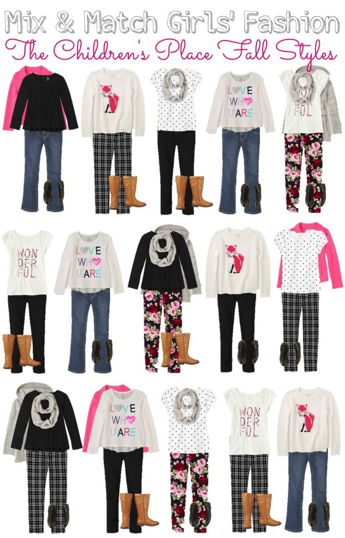 Girls Mix and Match Wardrobe for Fall