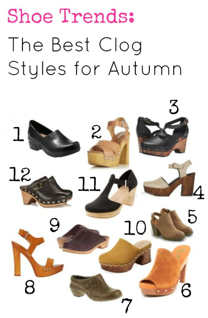 The best clog styles for fall