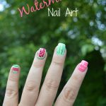 Half Watermelon Nail Art Tutorial