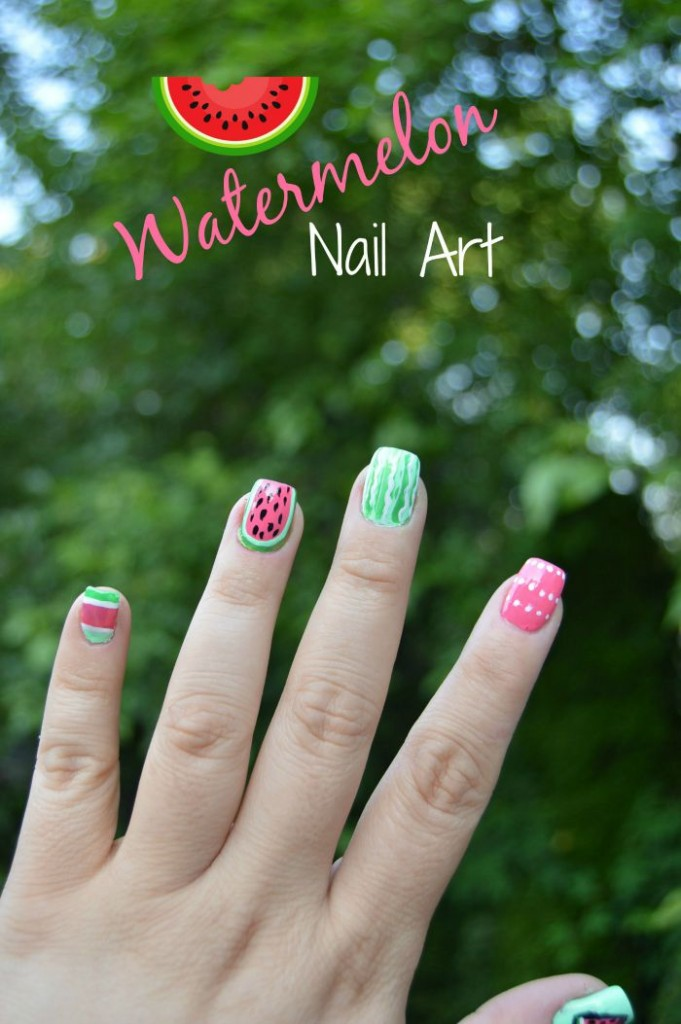 Watermelon nail art tutorials