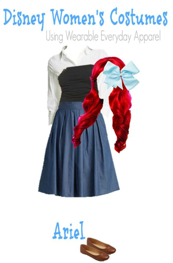 DIY Ariel Little Mermaid Halloween Costume for Adults
