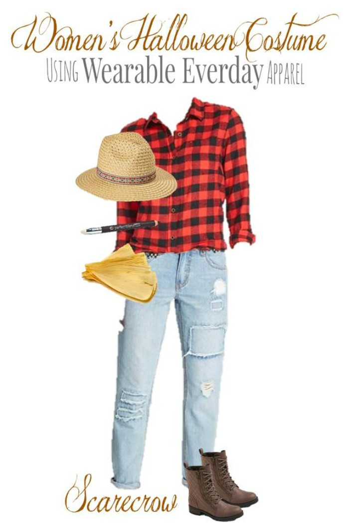 DIY Scarecrow Halloween Costume for Adults