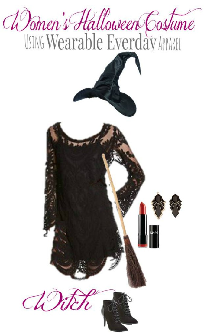 Witch DIY Halloween Costume for Adults
