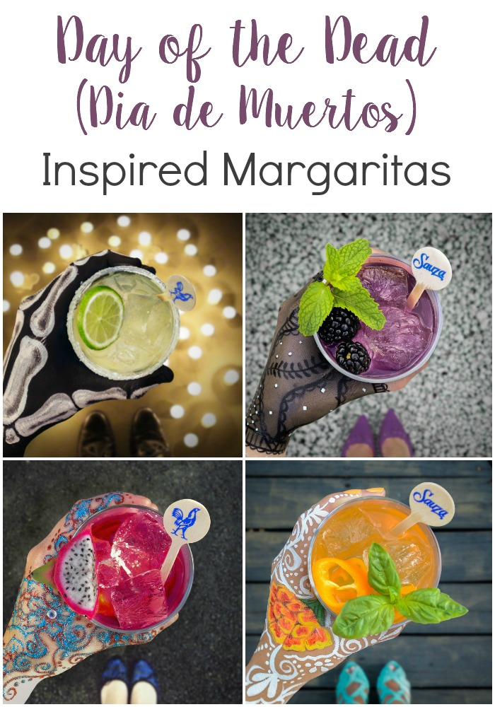 Day of the Dead inspired margaritas